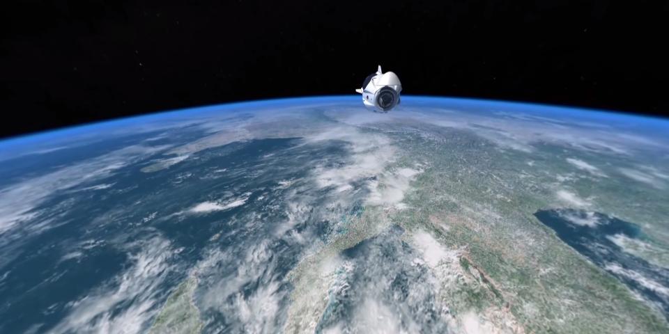 """SpaceX发射重复使用的""""龙""""飞船"""