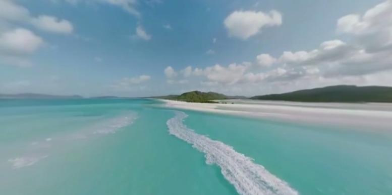 白天堂海滩全景视频