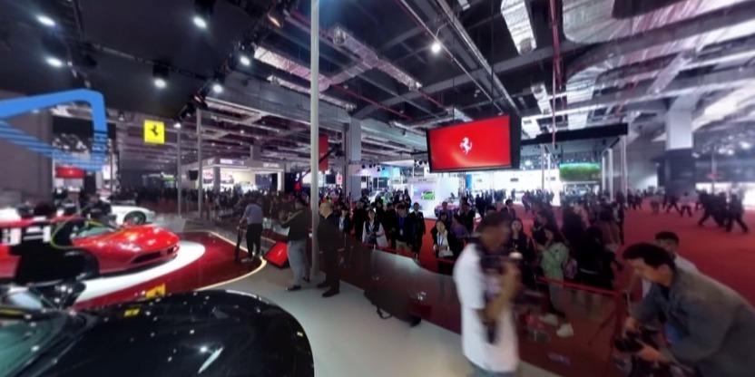 法拉利跑车全景视频