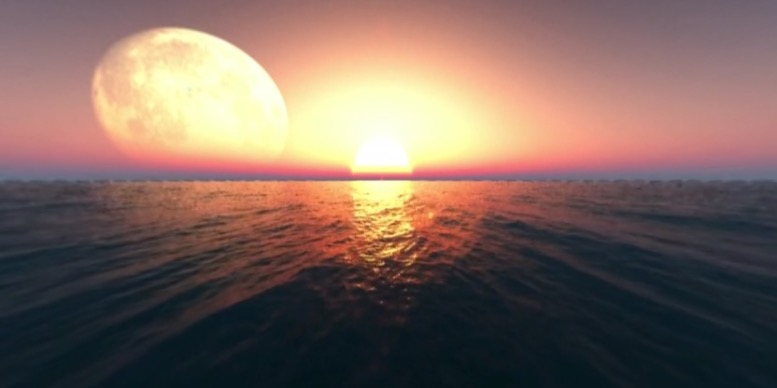 海上落日 VR视频