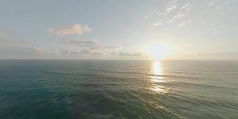 黄金海岸冲浪全景视频