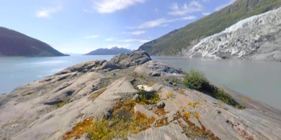 阿拉斯加冰川融化 VR视频